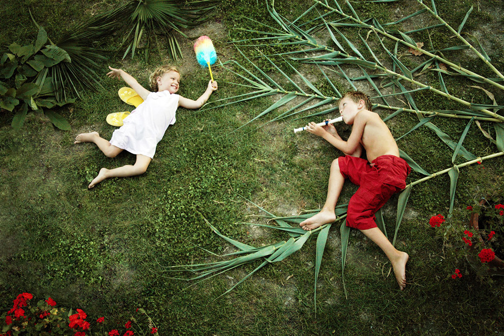 image of two kids playing Peter Pan