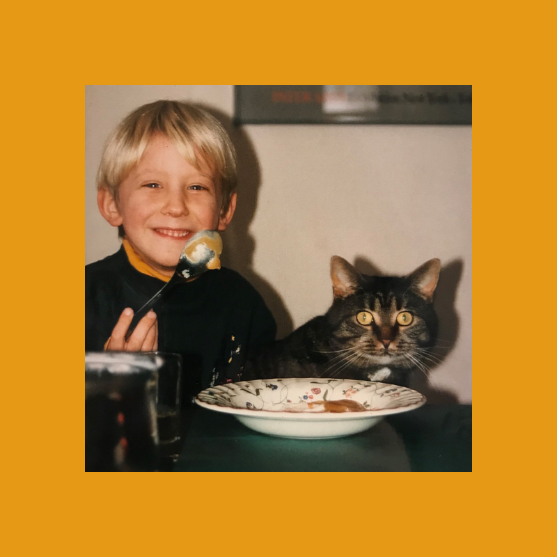 Me and my cat as kids
