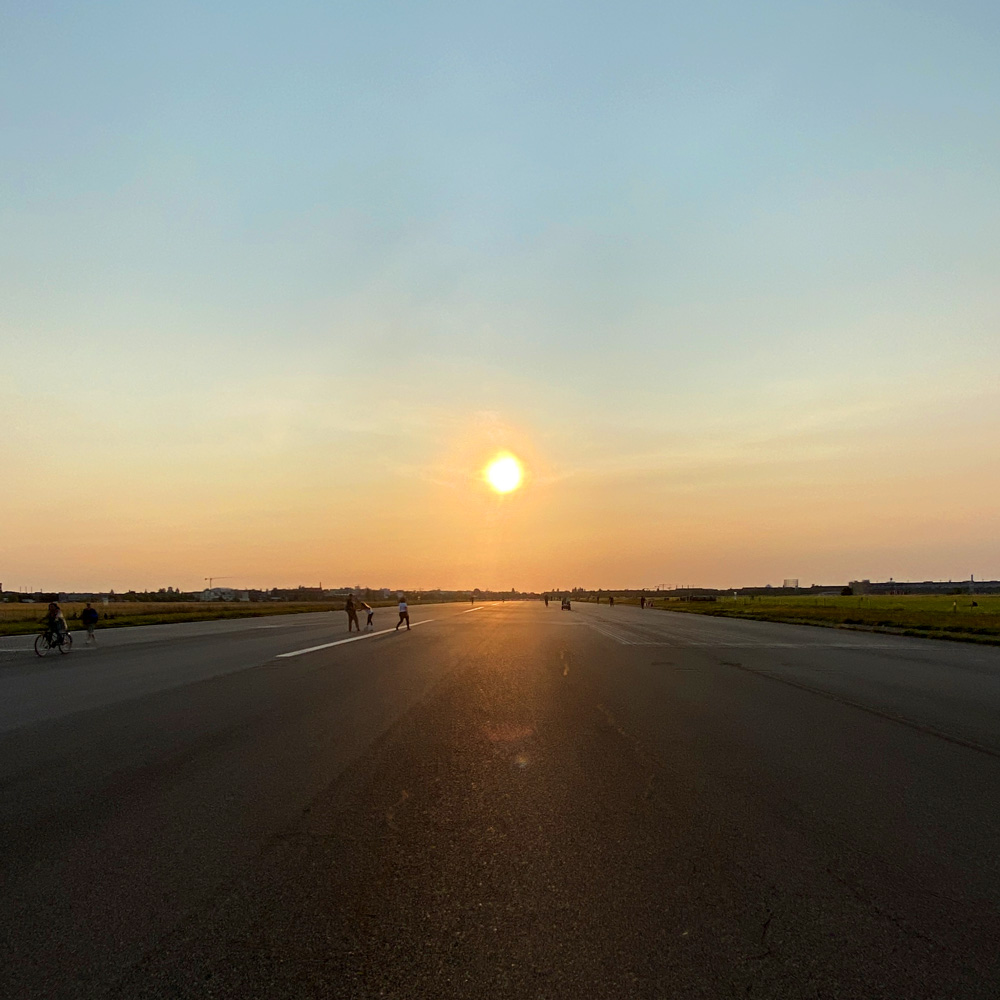 Sunset on Tempelhofer Feld